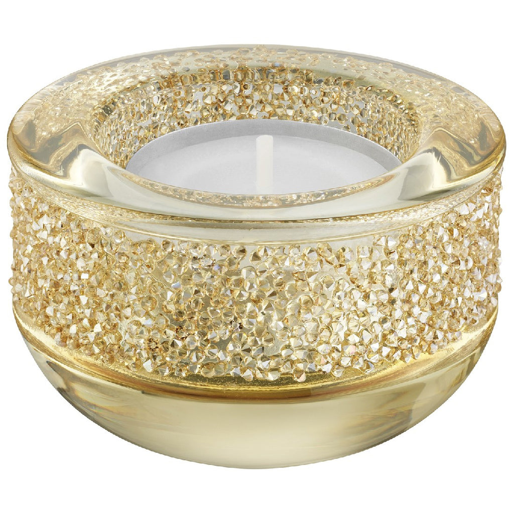 shimmer tea light gold