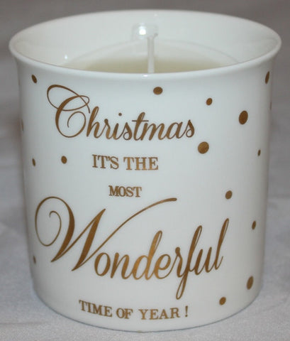 Christmaswonderful time of the year- candle