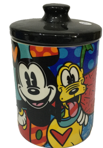 Mickey and Pluto cookie jar