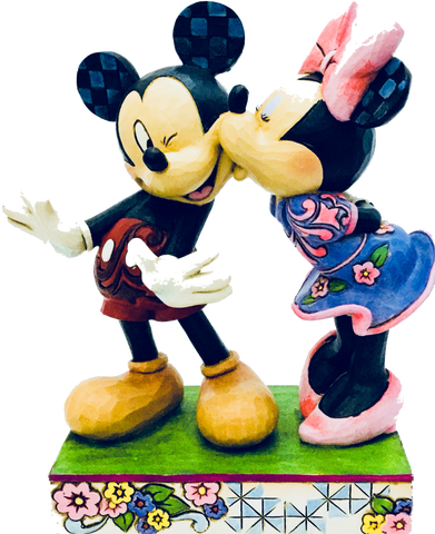 A kiss from me to you- MIckey and Minnie