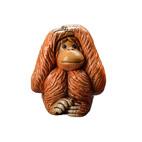 Orangutan - Hear , See, Do no evil Set of 3