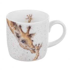 First Kiss- giraffe mug