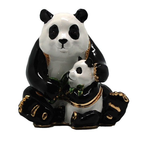 Panda With Family Trinket