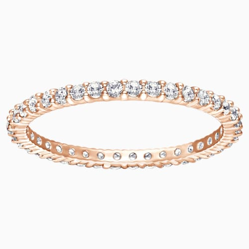Vittore, White, Rose-gold tone