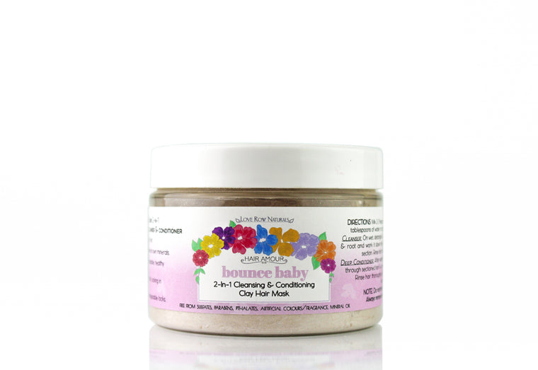 Hair Amour Bounce Baby 2-In-1 Cleansing & Conditioning Clay Hair Mask 100g