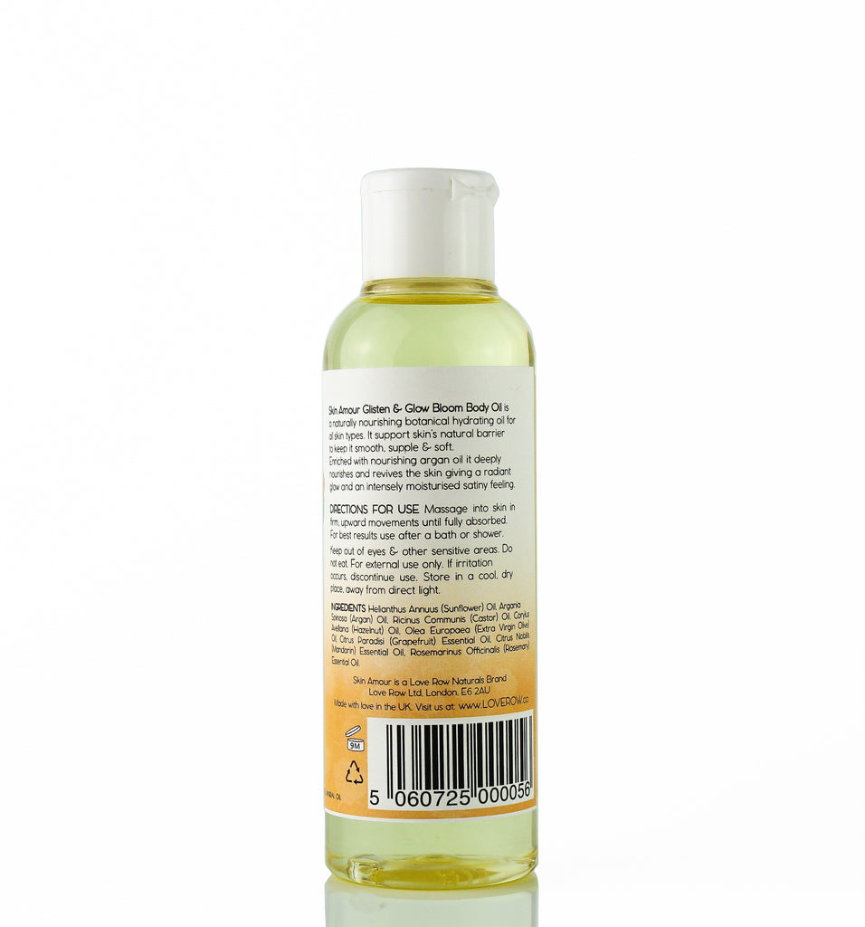 "Skin Amour Glisten & Glow ""Bloom"" Body Oil 150ml"
