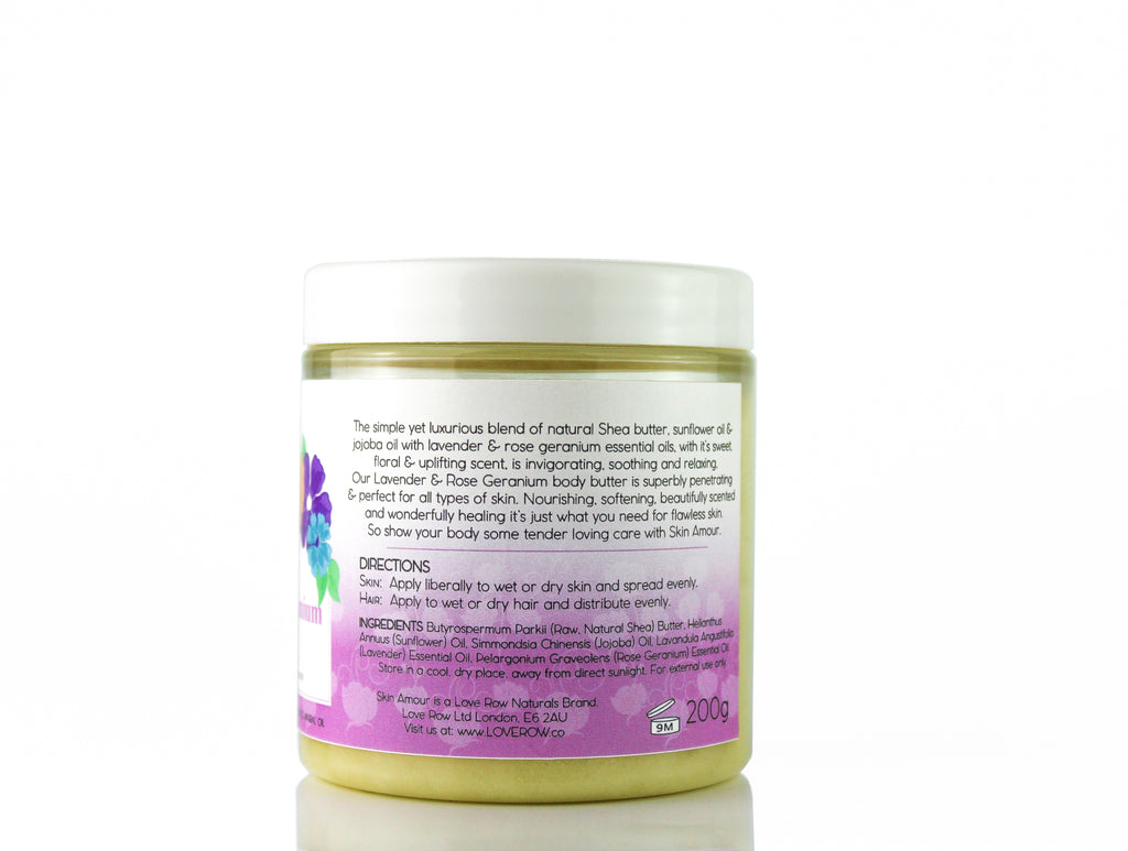 Skin Amour Lavender And Rose Geranium Body Butter