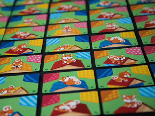 Shiba Inu House, the card game of fun colourful puzzles and quick reflexes.