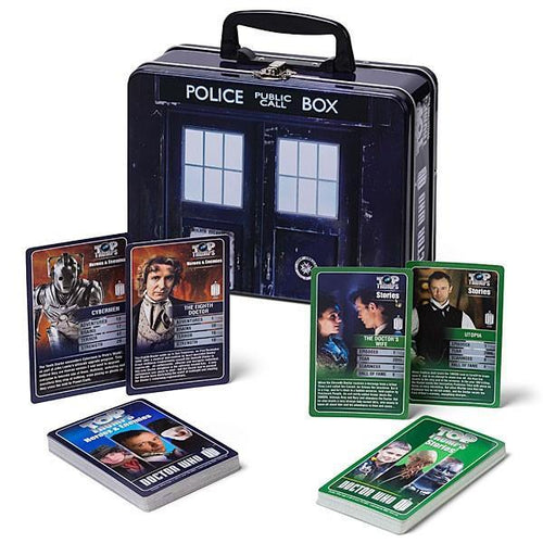Doctor Who Top Trumps in TARDIS Collector's Tin - TOYTAG