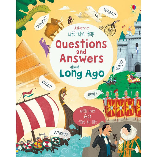 Lift-the-flap Questions and Answers about Long Ago - TOYTAG