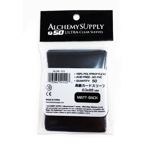 Alchemy Supply Matt Black Sleeves: Standard Card Size - TOYTAG