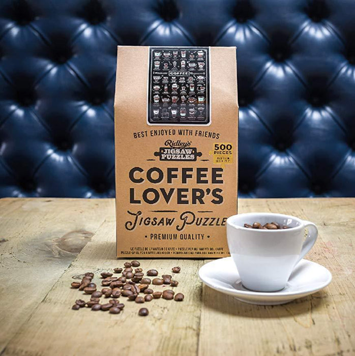 Coffee Lover's 500 pc Jigsaw Puzzle | Quality fun toys and educational games