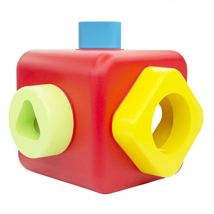 Bioserie Toys - Shape Sorting and Stacking Cube - TOYTAG