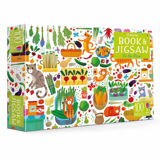 On the Farm Jigsaw and Picture Book - TOYTAG