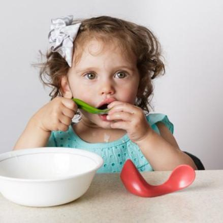 Toddler Right-Handed Spoon - Beet - TOYTAG