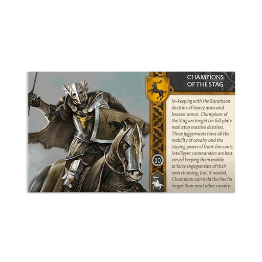 A Song of Ice and Fire : Baratheon Champions of the Stag Unit Box