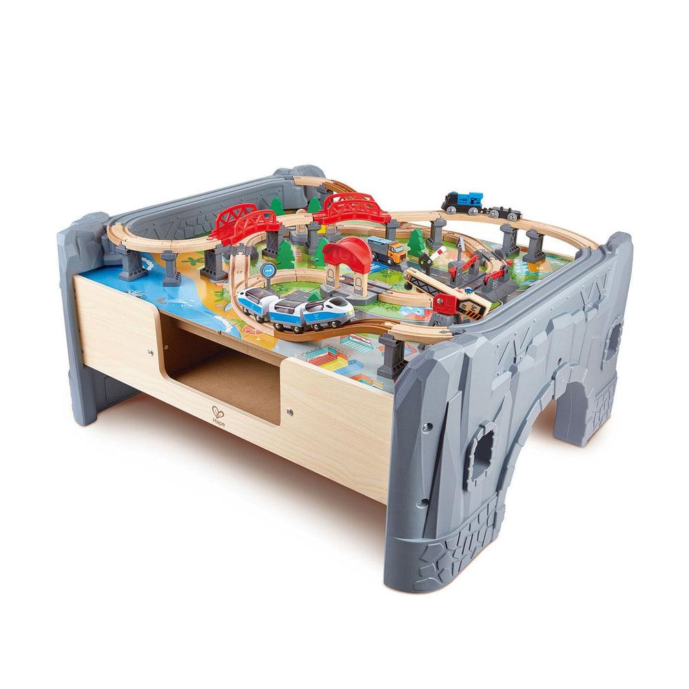 70 Piece Railway Train & Table with Battery Powered Locomotive