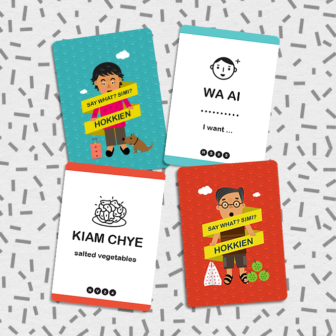 SAY WHAT? Learn Hokkien Playing Cards