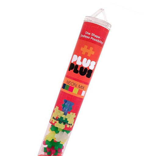 Plus-Plus - Open Play Tube Neon mix 100pcs - TOYTAG