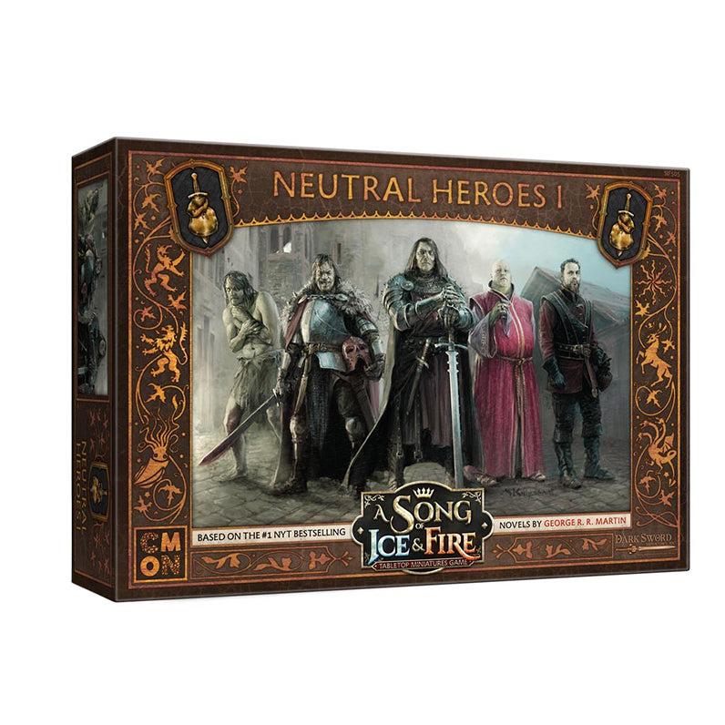 A Song of Ice and Fire:  Neutral Heroes 1 Unit Box - TOYTAG