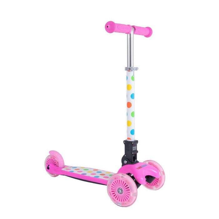 Kiddimoto U-Zoom Pastel Dotty Scooter
