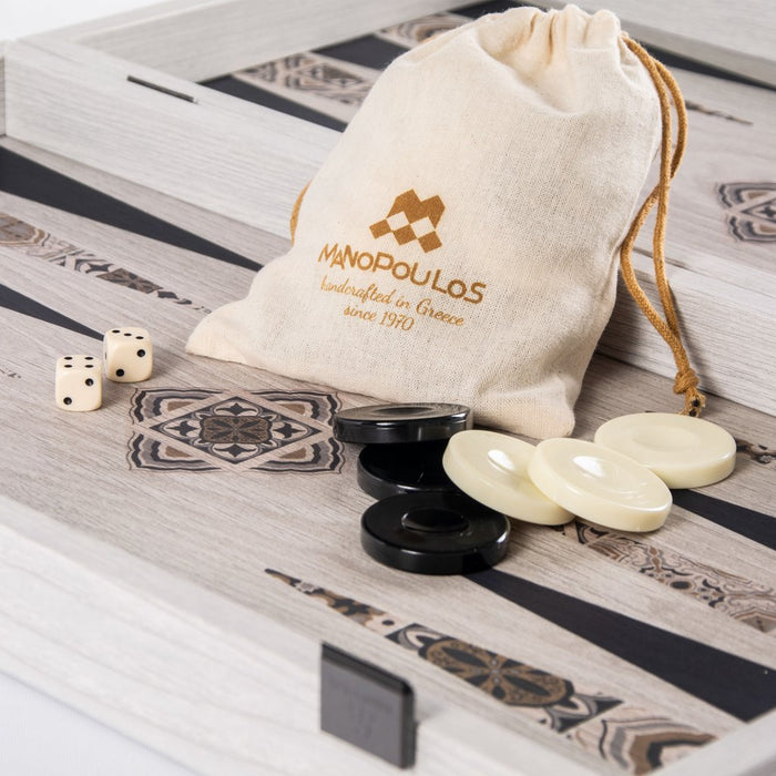 Moroccan Mosaic Art Backgammon Set