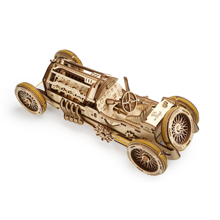 UGEARS 3D Wooden Puzzle - U-9 Grand Prix Car