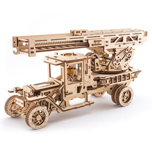 UGEARS 3D Wooden Puzzle - Fire Ladder + UGM-11 Truck