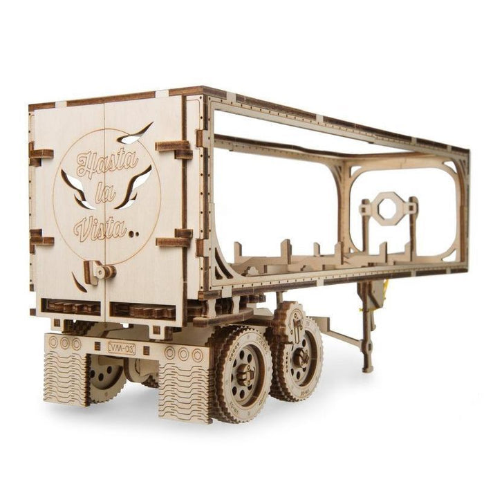 UGEARS 3D Wooden Puzzle - Trailer for Heavy Boy Truck VM-03