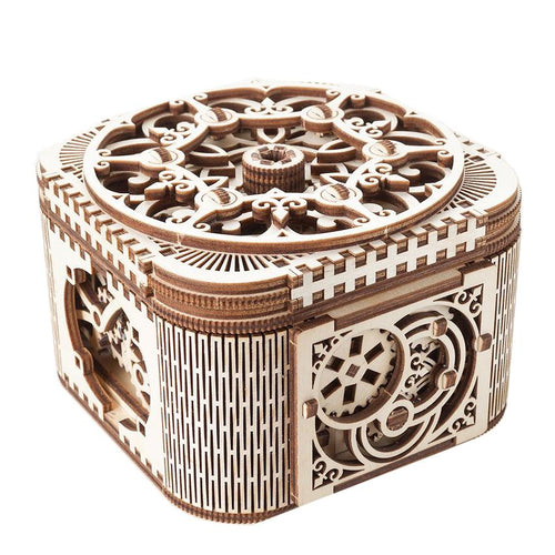 UGEARS 3D Wooden Puzzle - TREASURE BOX