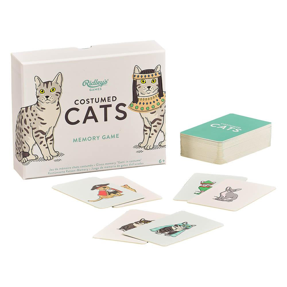 Costumed Cats Memory Card Game