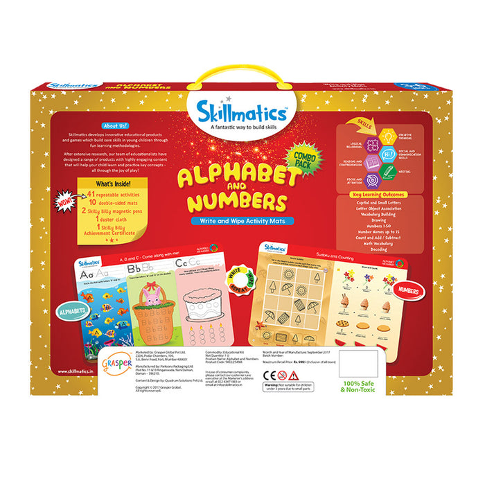 Skillmatics Educational Game: Alphabet & Numbers Combo Pack
