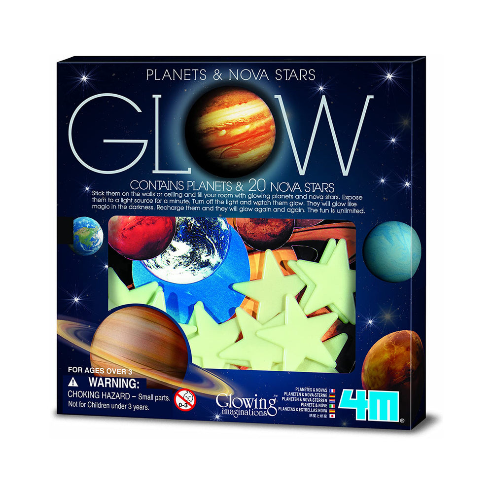 4M Glow in the Planets and Nova Stars