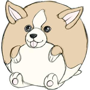 "Mini Squishable Corgi 7"" Plush - TOYTAG"