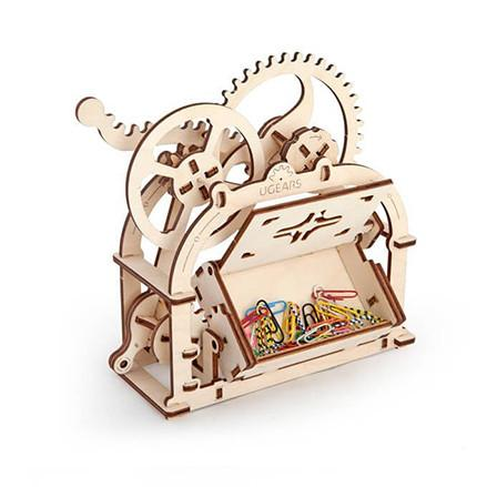 UGEARS 3D Wooden Puzzle - Treasure Box & Name Card Holder - TOYTAG