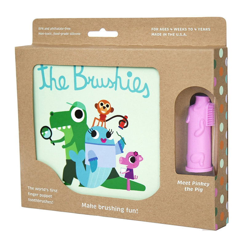 The Brushies Book With Pinkey Brushie Toothbrush - TOYTAG