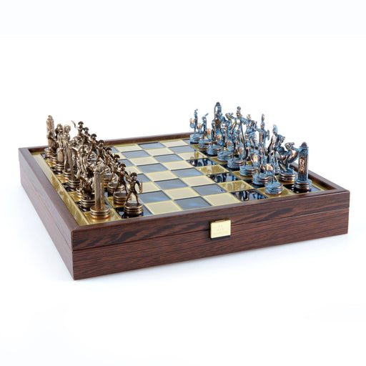 Greek Mythology Chess Set with Wooden Case