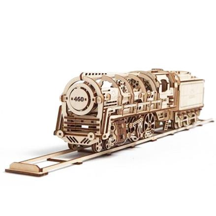 UGEARS 3D Wooden Puzzle - Steam Locomotive - TOYTAG
