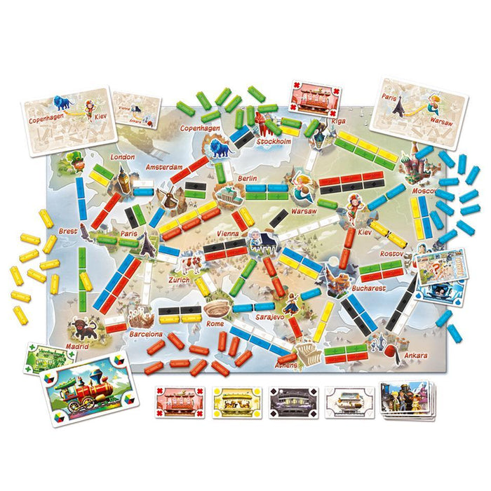 Ticket to Ride: First Journey Europe Map - TOYTAG