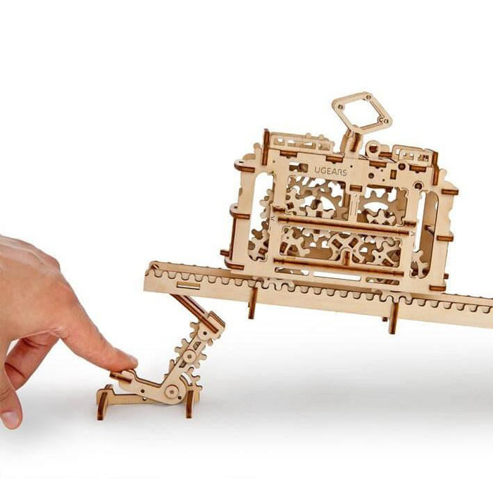 UGEARS 3D Wooden Puzzle - Tram on Rails