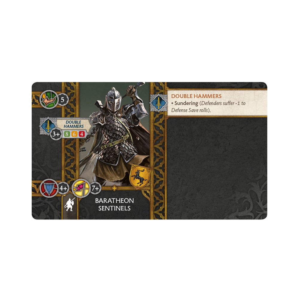 A Song of Ice and Fire : Baratheon Sentinels Unit Box