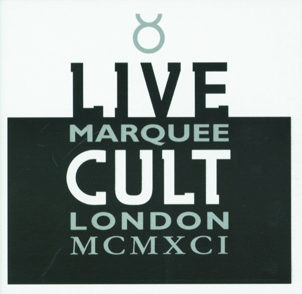 The Cult Live Cult - Marquee London MCMXCI CD