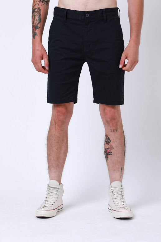 Miles Chino Short In Navy - DML Jeans