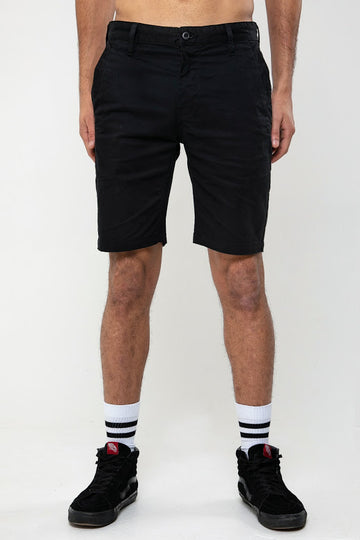 Miles Chino Short In Black - DML Jeans