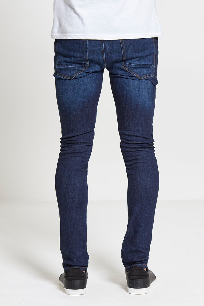 Chaos Skinny Stretch Jeans in Dark Wash - DML Jeans