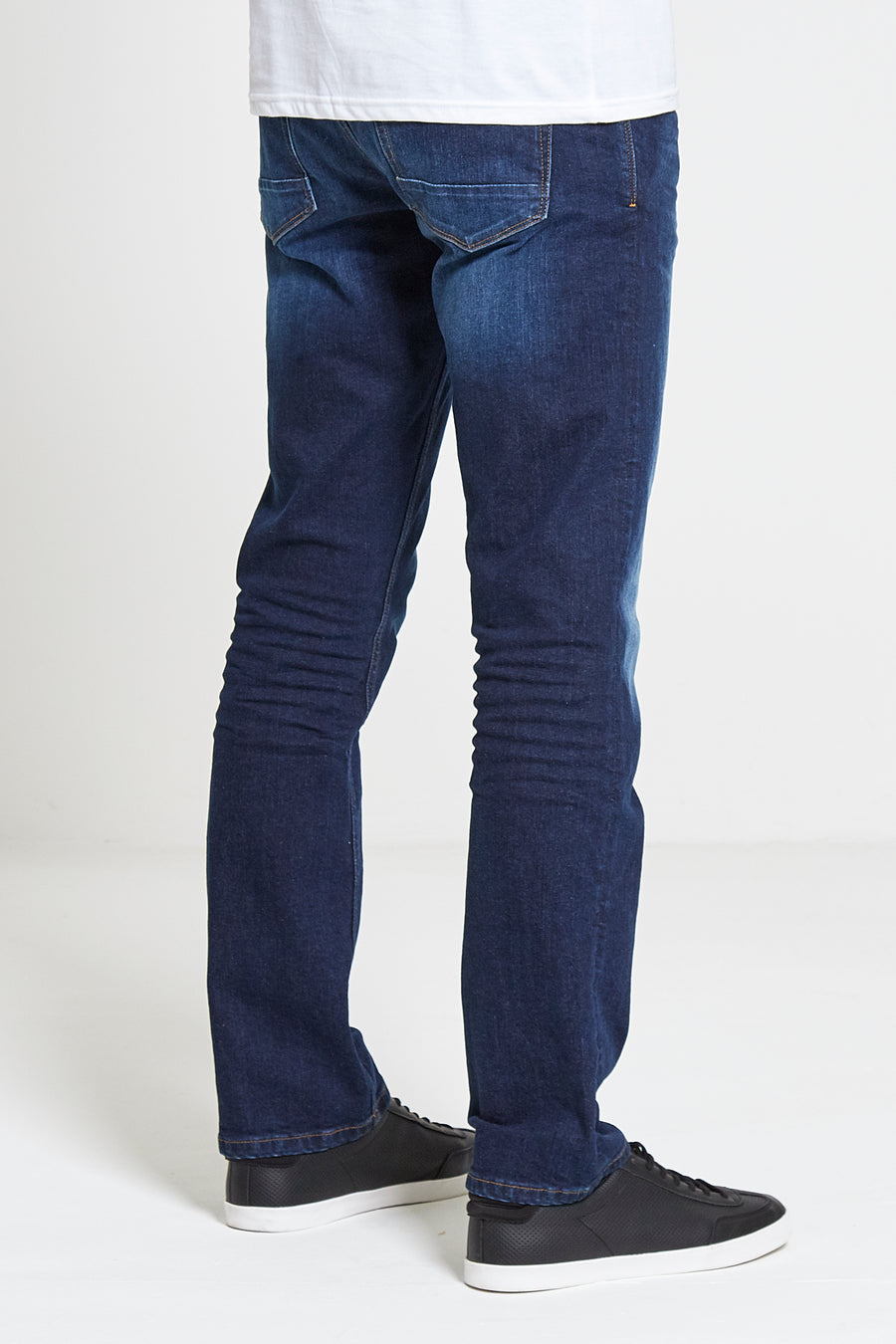 Hunter Straight Fit Stretch Jeans in Dark Wash - DML Jeans