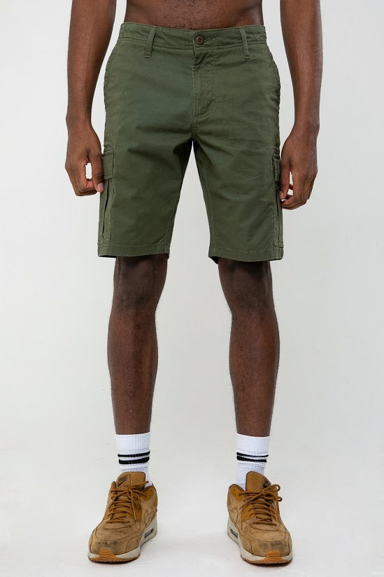 Rookie Cargo Short In Army Green - DML Jeans