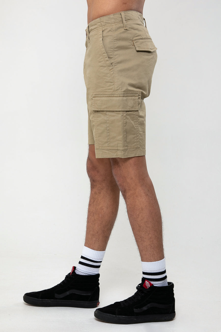 Rookie Cargo Short In Stone - DML Jeans