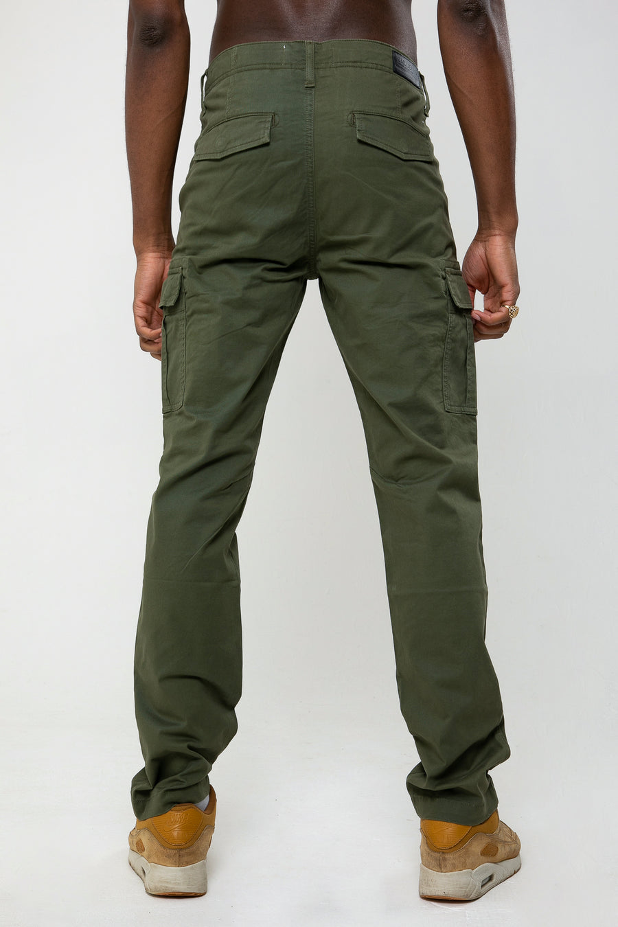 Wade Utility Cargo Pant In Army Green - DML Jeans