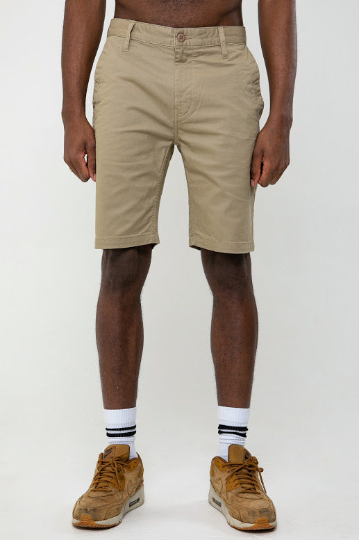 Miles Chino Short In Stone - DML Jeans